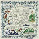 STATE SOUVENIR HANDKERCHIEF, ALASKA