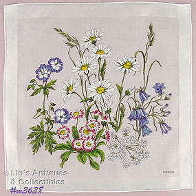 FLORAL HANDKERCHIEF SIGNED KRIER (3 AVAILABLE)