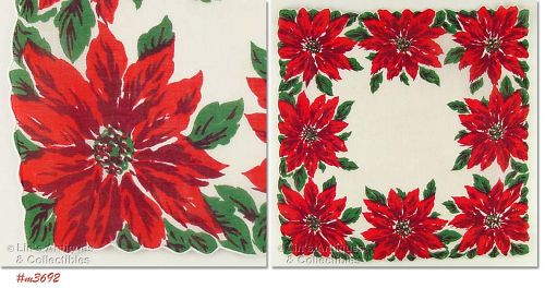 POINSETTIAS HANDKERCHIEF
