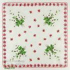 BOUQUETS OF WHITE POINSETTIAS CHRISTMAS HANDKERCHIEF