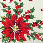 RED POINSETTIAS CHRISTMAS HANDKERCHIEF