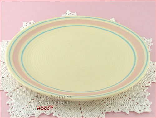 McCOY POTTERY � PINK AND BLUE SERVING PLATTER