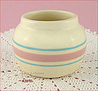 McCOY POTTERY � PINK AND BLUE CONDIMENT JAR / BOWL