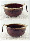 McCOY POTTERY � BROWN DRIP BATTER BOWL