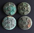 Detailed wetern zhou dynasty bronze button