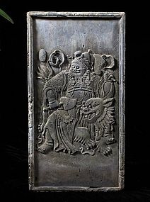Ming dynasty tile with zhongui figure