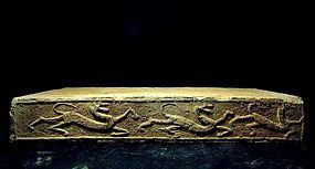 han dynasty brick with dragon