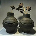 A wonderful pair pot of warring-states period
