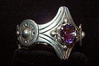 Vintage Mexican Taxco Silver Alexandrite Bracelet