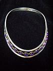Sigi Pineda Vintage Mexican Silver Necklace w/Amethyst