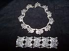 Los Castillo Margot  Mexican Silver Necklace Bracelet