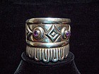 Outstanding Vintage Mexican Silver Repousse Cuff