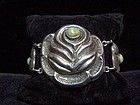 Old Mexico City Matl Style Vintage Silver Bracelet Rose