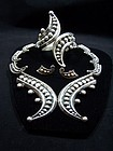 Vintage Mexican Silver Beaded Matching Clamper