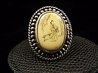 Antonio Pineda Vintage Mexican Silver Locket Ring