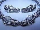 Margot de Taxco Vintage Mexican Silver Swans Set
