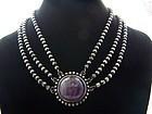 980 Los Castillo Vintage Mexican Amethyst Necklace