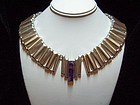 Fred Davis Vintage Mexican Silver Modernist Necklace