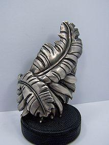 Monumental Doris Vintage Mexican Silver Leaf Cuff
