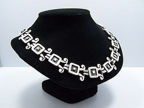 Emma Vintage Mexican Silver  Necklace Bracelet Earrings