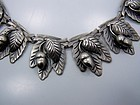 Vintage Mexican Silver Acorn Necklace Magnificent