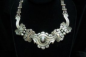 Aguilar Vintage Mexican Silver Old Maguey Necklace