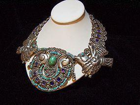 Matl Salas Mexican Silver Rare Necklace Matlilde Poulat