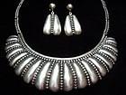 Hilario Lopez Vintage Mexican Silver Beaded Necklace