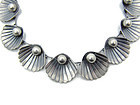 Clam Silver Pearl Vintage Mexican Silver Necklace
