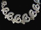 Los Castillo 615 Vintage Mexican Silver Swirl Necklace