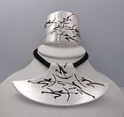 Antonio Pineda Vintage Mexican Silver Archer Necklace
