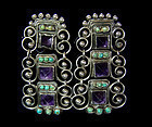 Matl Matilde Poulat Mexican Silver Jeweled Earrings