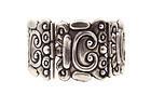 Los Castillo 156  Mexican Silver Glyph Vintage Bracelet