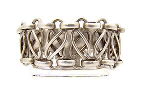 Hector Aguilar Braided Vintage Mexican Silver Bracelet