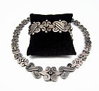 Hector Aguilar Vintage Mexican Silver Fertility Bracelet and Necklace