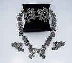 Margot de Taxco  5647  Mexican Silver Necklace Bracelet Earrings