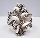 Gerardo Lopez Vintage Mexican Silver Swirl Clamper