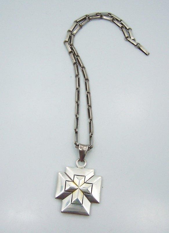 William Spratling Cross Necklace Vintage Mexican Silver
