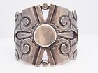 William Spratling Deeply Chased Vintage Mexican Silver Cuff Bracelet
