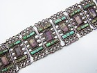 Matl Matilde Poulat Mexican Silver Amethyst & Turquoise Bracelet