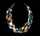 Vintage Mexican Silver Necklaces Colorful Gemstones