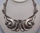 Vintage Mexican Silver Taxco 980 Pectoral Necklace