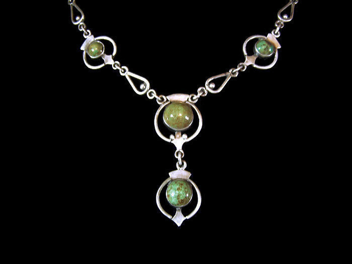 Bernice Goodspeed Vintage Mexican Silver Turquoise Necklace