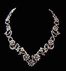 Doris Silver Floral Vintage Mexican Silver Necklace