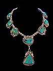 Melvin Connie Begay Turquoise Native American Sterling Necklace