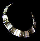 Felipe Martinez Vintage Mexican Silver Obsidian Necklace & Earrings