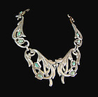 Victoria Vintage Mexican Silver Early Design 61 Pectoral Necklace