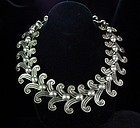 Margot de Taxco Vintage Mexican Double Swirl Necklace # 5158