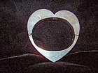 Wonderful Sweetheart Mexican Silver Bangle Bracelet