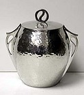Arts & Crafts Pewter Biscuit Box,Connell,William Hutton